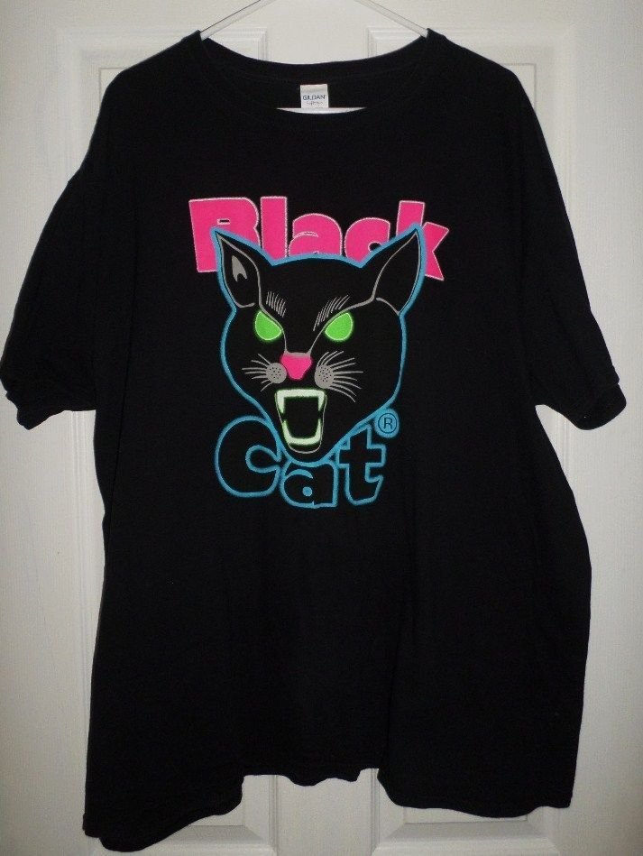 568506cb70ec All about Amazoncom Black Cat Fireworks Tshirt Licensed Black - www ...