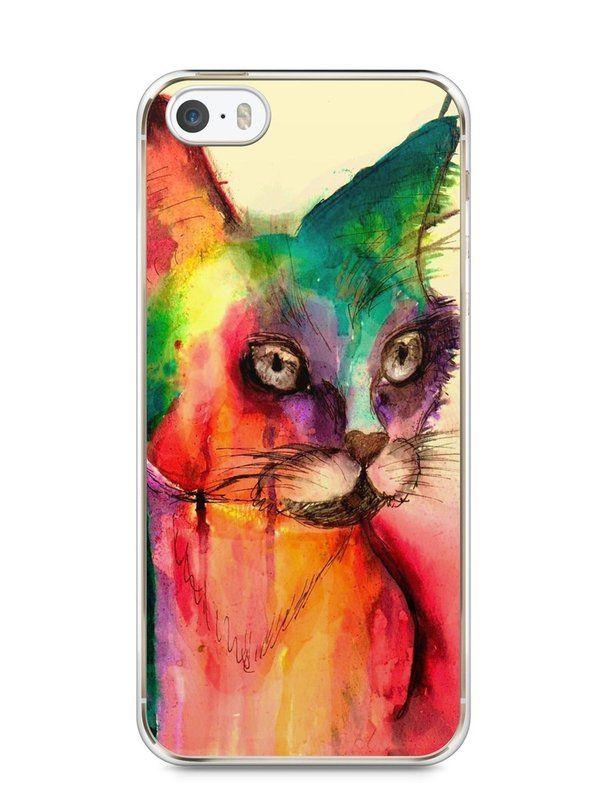 Capa Iphone 5/S Gato Pintura - SmartCases - Acessórios para celulares e tablets :)