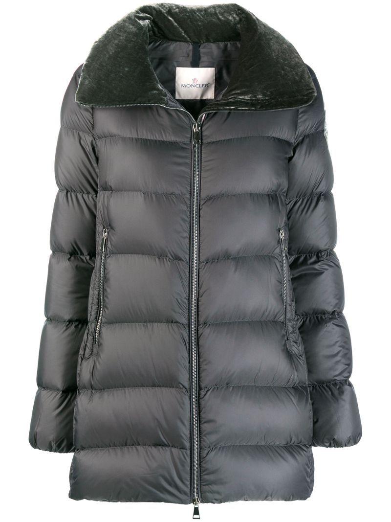 Moncler Torcon Velvet Collar Jacket Grey Collar Jackets Moncler Jackets [ 1067 x 800 Pixel ]