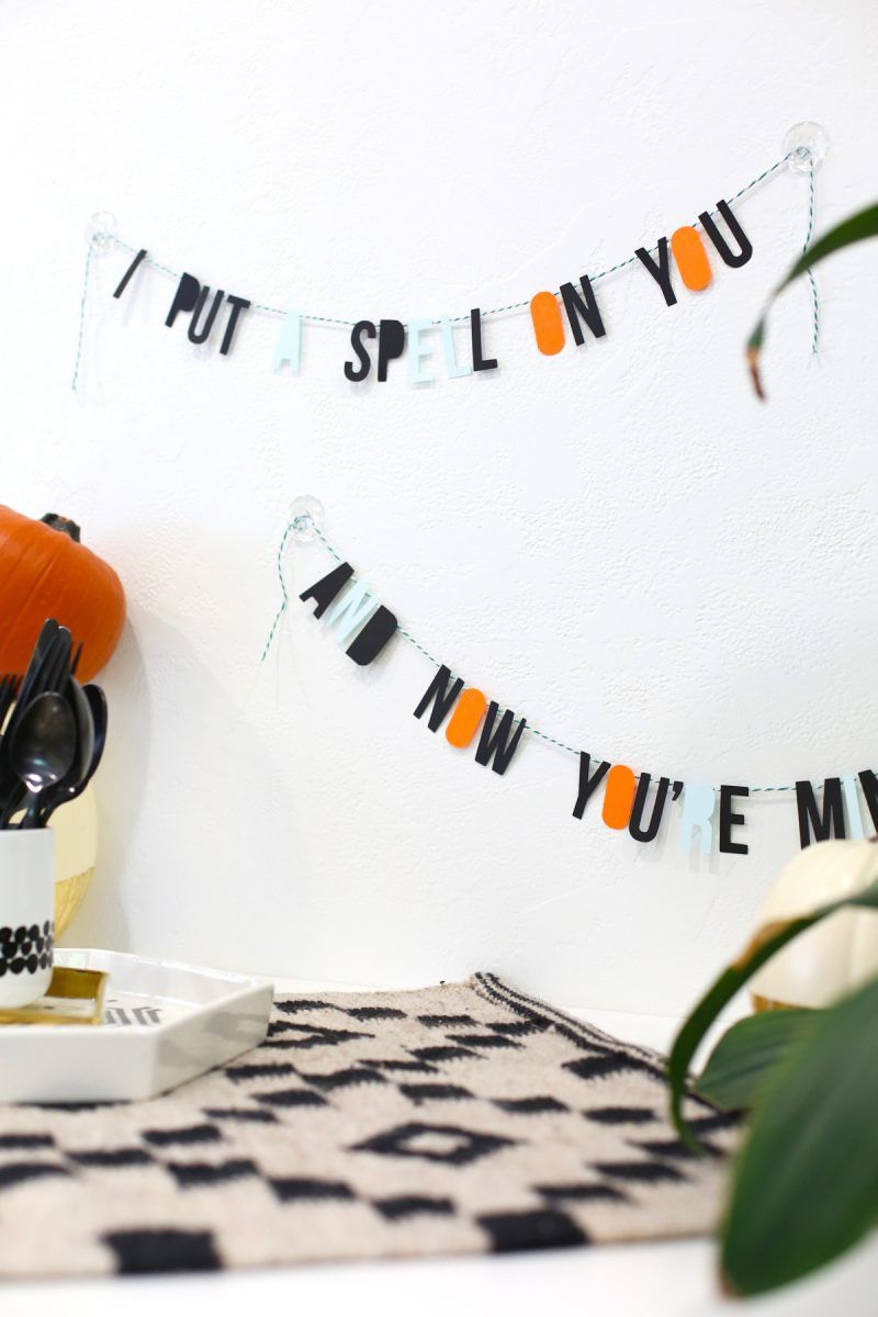 diy halloween spell garland | -♥- halloween how-to's