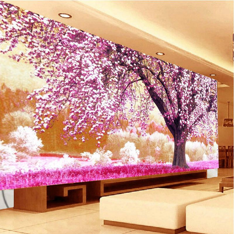 DIY The place of first love Cherry tree silk series Cross stitch ...