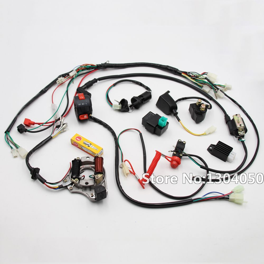 Full Electrics Cdi Coil Switch Assembly Wire Harness 50cc 70cc 90cc Electronics 110cc 125cc Atv Quad Bike