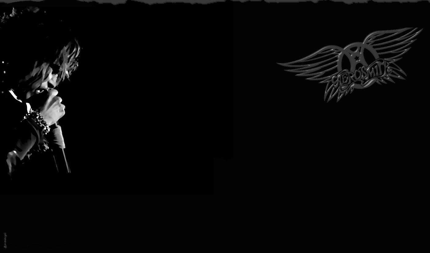 Aerosmith Logo Black Wallpaper Aerosmith Aerosmith Steven Tyler