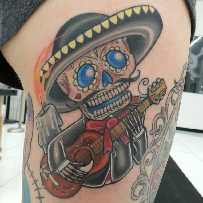 40 bloodcurdling day of the dead tattoos tatuajes. Black Bedroom Furniture Sets. Home Design Ideas