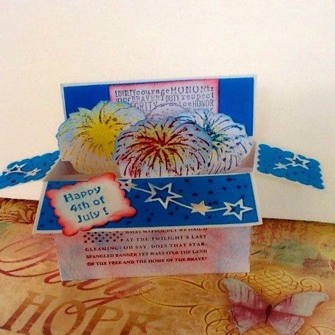 similar to Box pop up card  Happy 4th of July Celebration  Fireworks  Red White and  Box pop up card  Happy 4th of July Celebration  Fireworks  Red White and Blue  Patrio...