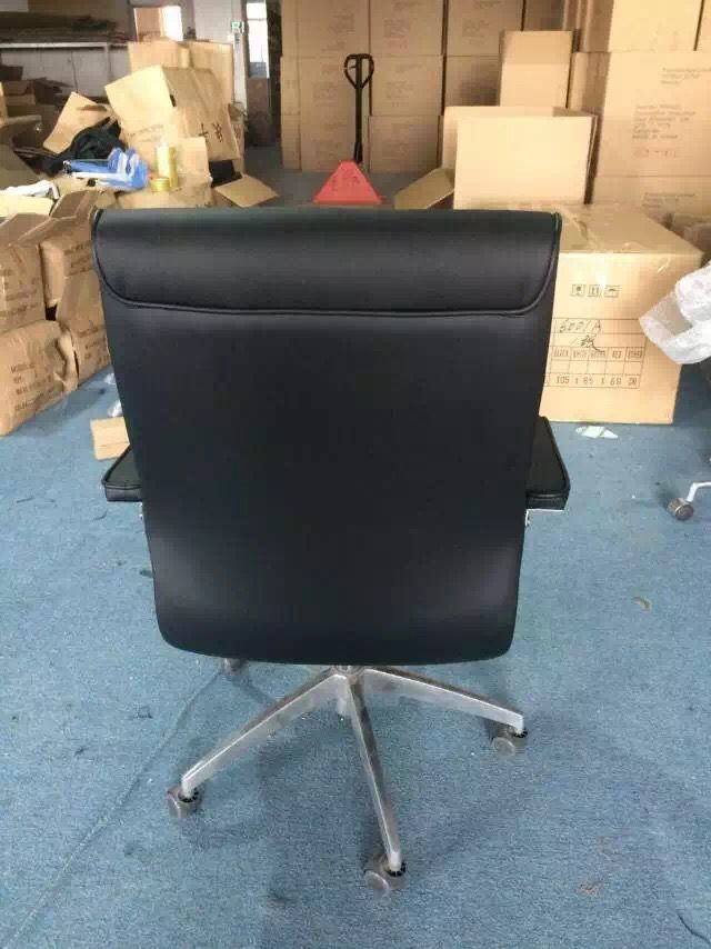 Multi Functional Black Leather Office Chair Modern Computer Office Furniture Swivel Chair Office Chair Black Leather Office Chair Modern Office Chair