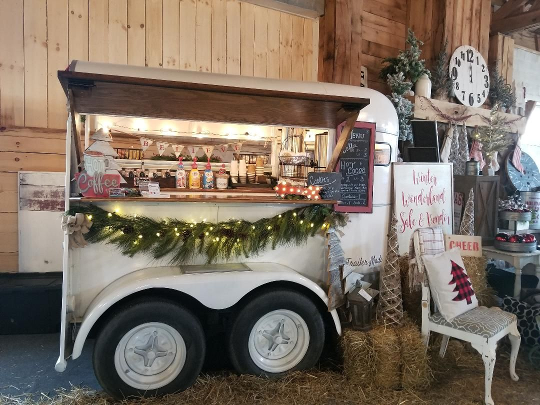 Holiday Coffee and Hot Chocolate Bar. Horse trailer mobile