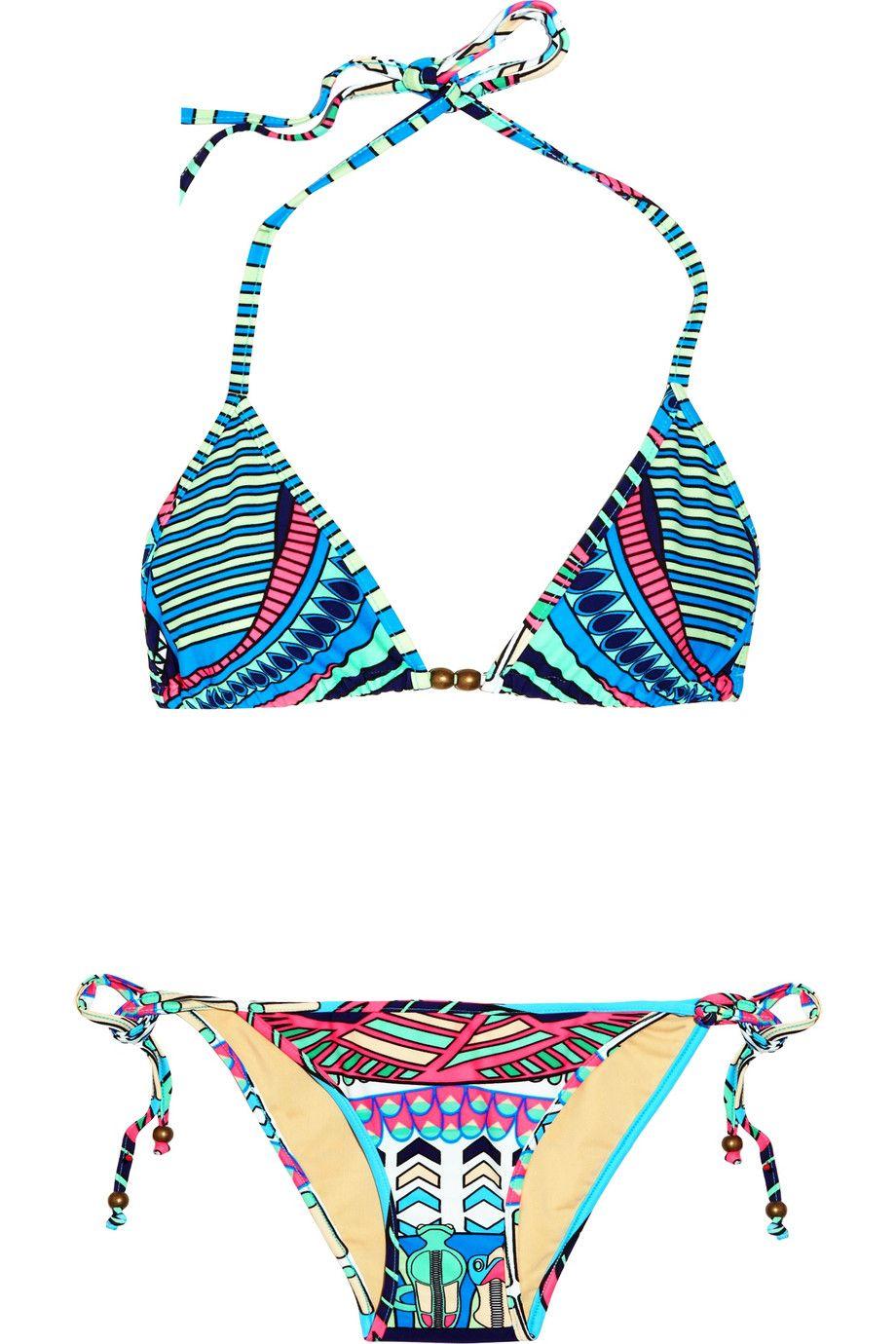 Mara Hoffman Printed Triangle Bikini in Multicolor (multicolored)   Lyst   $195