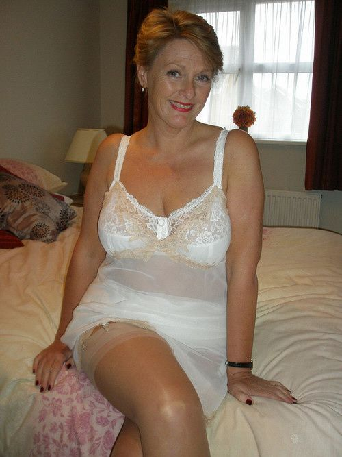 in stockings gilf Hot