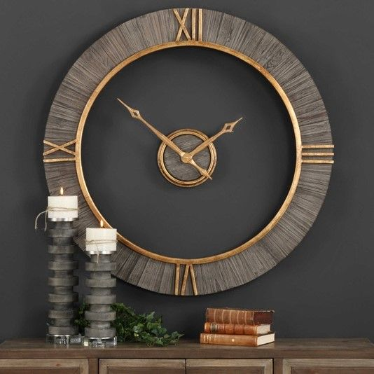 This Is One Beautiful Clock At 39 In Diameter With Real Fir Wood
