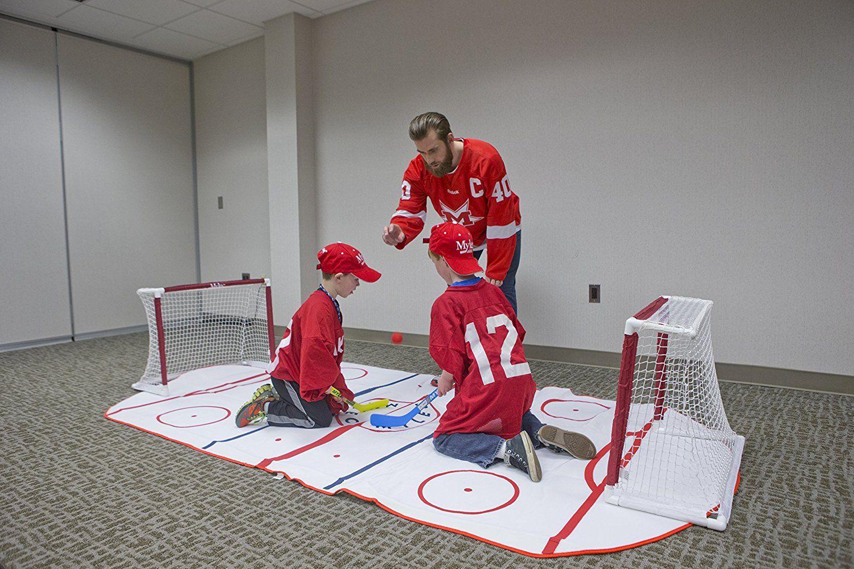 Mylec Mini Shini Knee Hockey Mat Shin Guards Amazon Canada Hockey Mini Knee