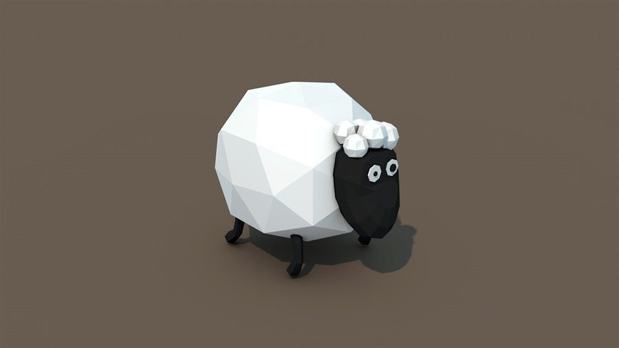 Low Poly Sheep 3d Model With Images Low Poly Character Low
