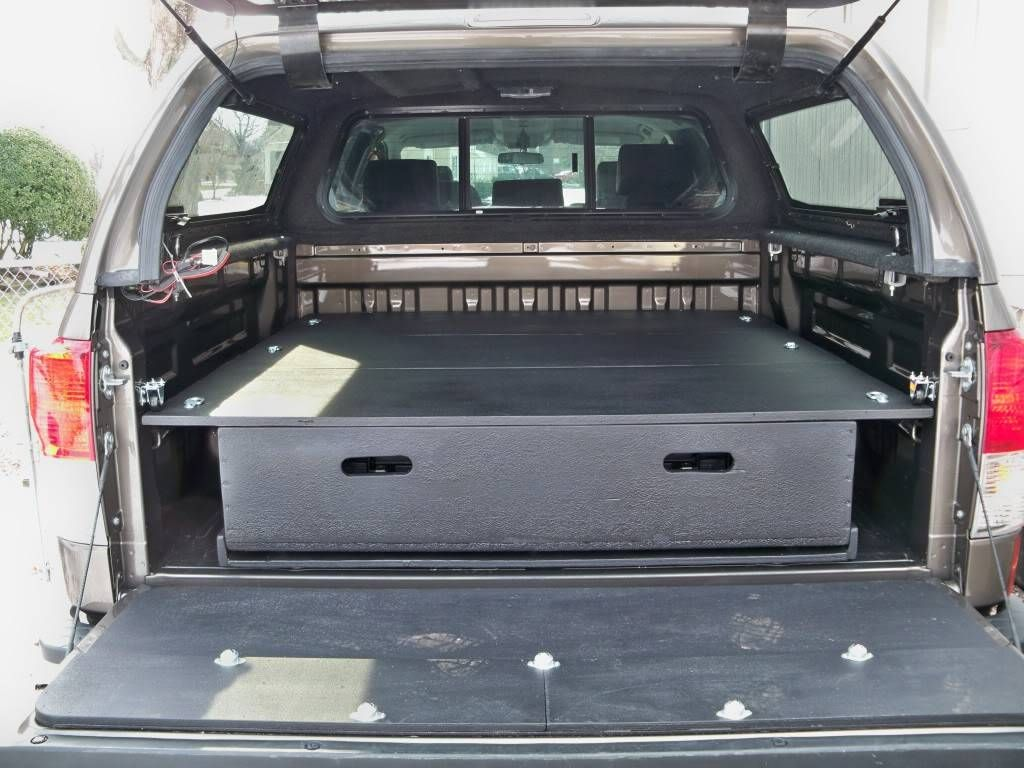 Diy bed storage system for my truck toyota tundra