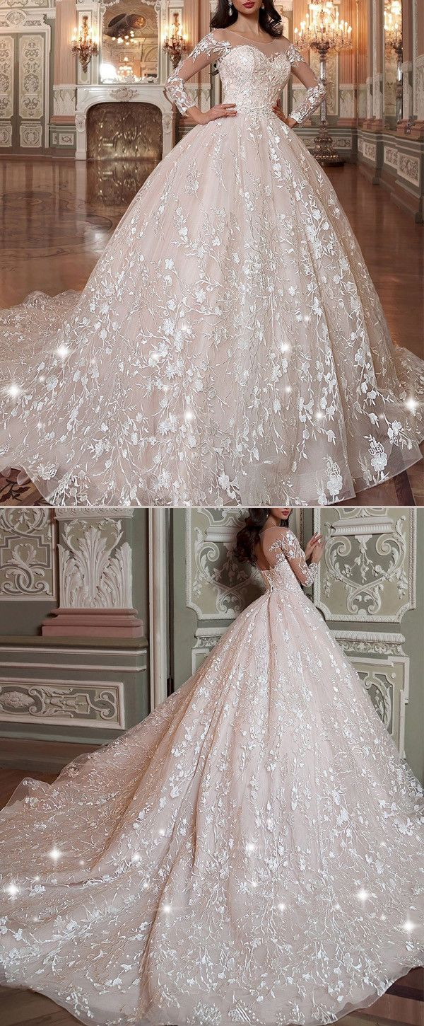 Wedding dresses ball gown lace  NEW Attractive Tulle u Organza Scoop Neckline Ball Gown Wedding