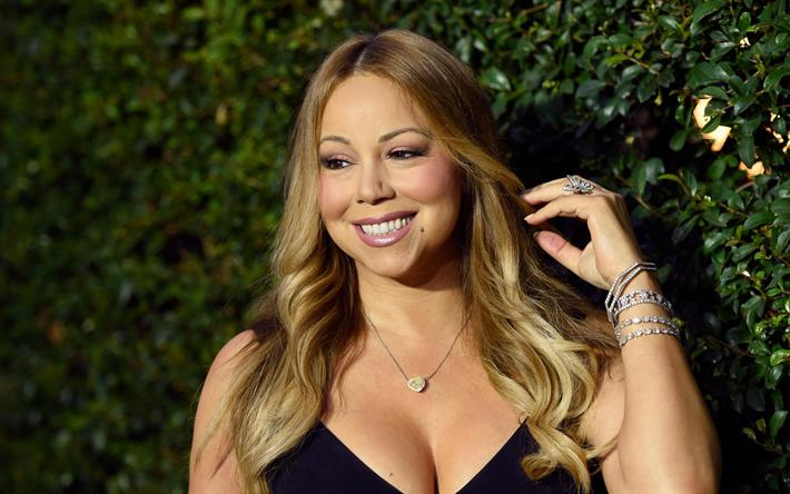 Download Wallpapers Mariah Carey American Singer 4k Portrait Blonde American Celebrities Besthqwallpapers Com Mariah Carey Cantantes Famosos