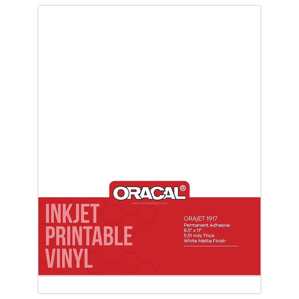 Oracal Inkjet Printable Permanent Adhesive Vinyl Packs Printable Vinyl Inkjet Printable Vinyl Adhesive Vinyl