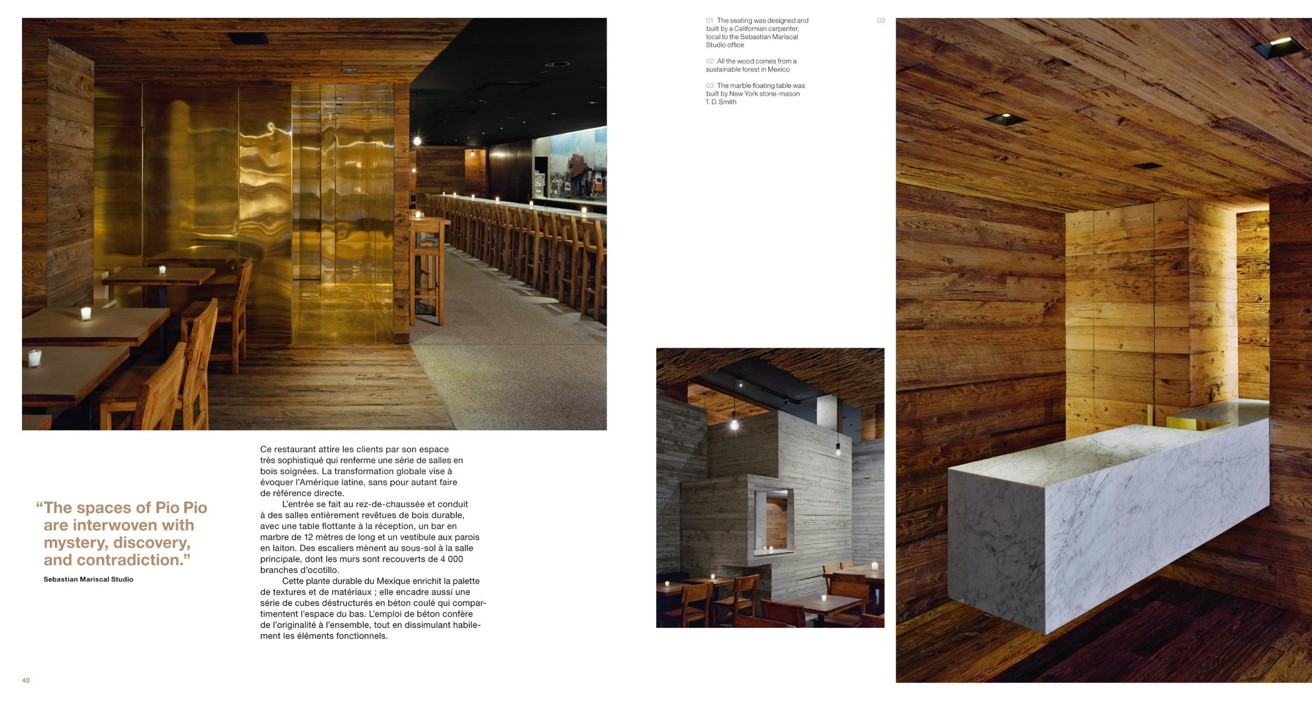 Restaurant & Bar Design Julius Wiedemann, Marco Rebora