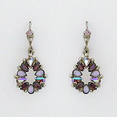 Sorrelli earrings Violet Eyes Collection. Glistening shades of lavender crystals in antique silver, sparkle for every day!