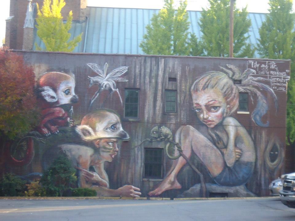 Herakut In Lexington Ky Art Street Art Painting