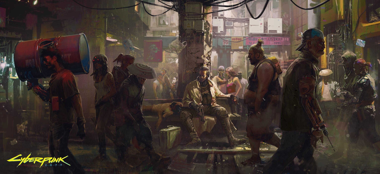 Концептарты Cyberpunk 2077 с Концептуальное