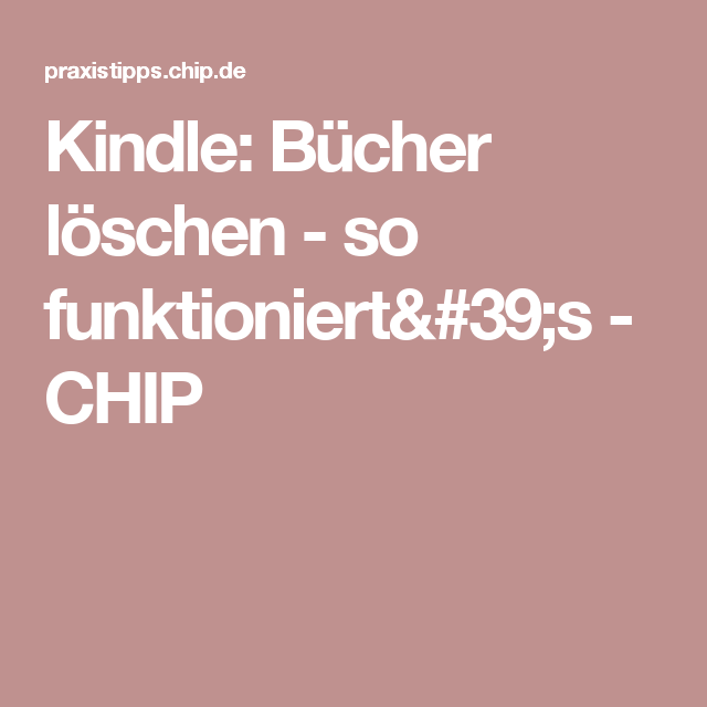 Amazon Kindle Bücher Löschen