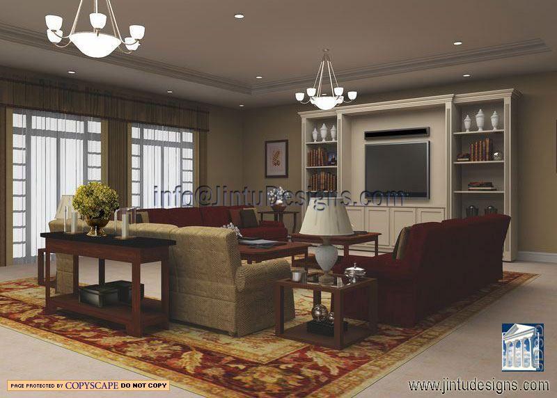 Clic Living Room Design Interior Rendering Realistic Renderings