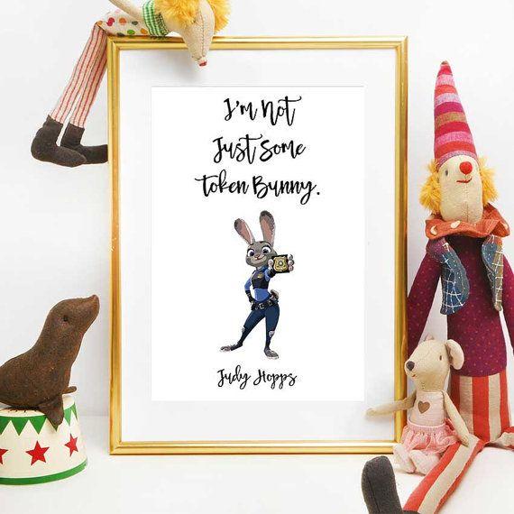 Zootopia Party Disney Quotes Judy hopps Printable by DigitalSpot
