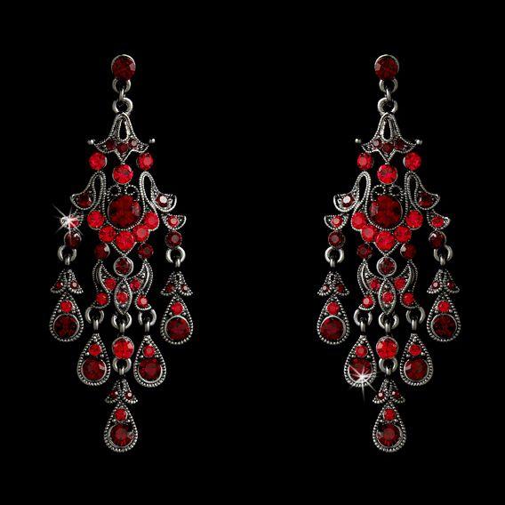 Affordable elegance bridal red crystal rhodium chandelier earrings affordable elegance bridal red crystal rhodium chandelier earrings 4499 http aloadofball Choice Image