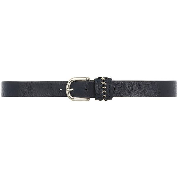 Dorothy Perkins Navy chain keeper jean belt (575 RUB) ❤ liked on Polyvore featuring accessories, belts, blue, navy belt, dorothy perkins, blue belt, navy blue belt and chain belt