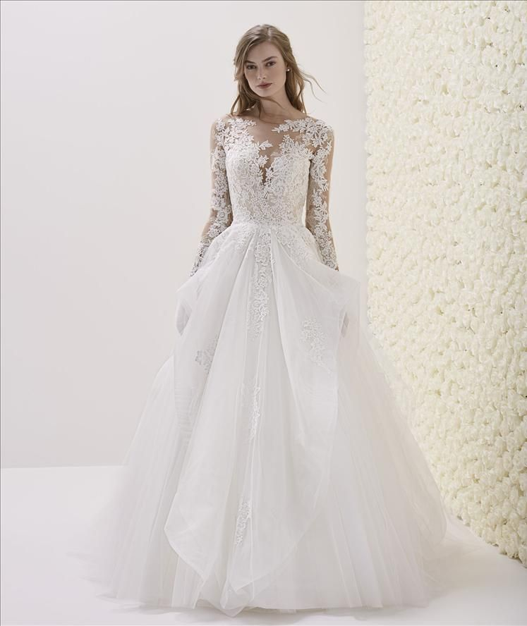 Pronovias Elmina Ball Gowns Wedding Wedding Dresses Flowing Wedding Dresses