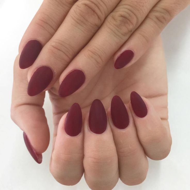 Sculptured almonds My fav fall color Malaga Wine by OPI   Perfect ...