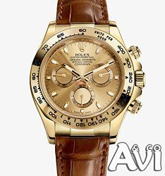 Rolex Daytona Yellow Gold Blue Paul Newman Dial Leather Strap 116518