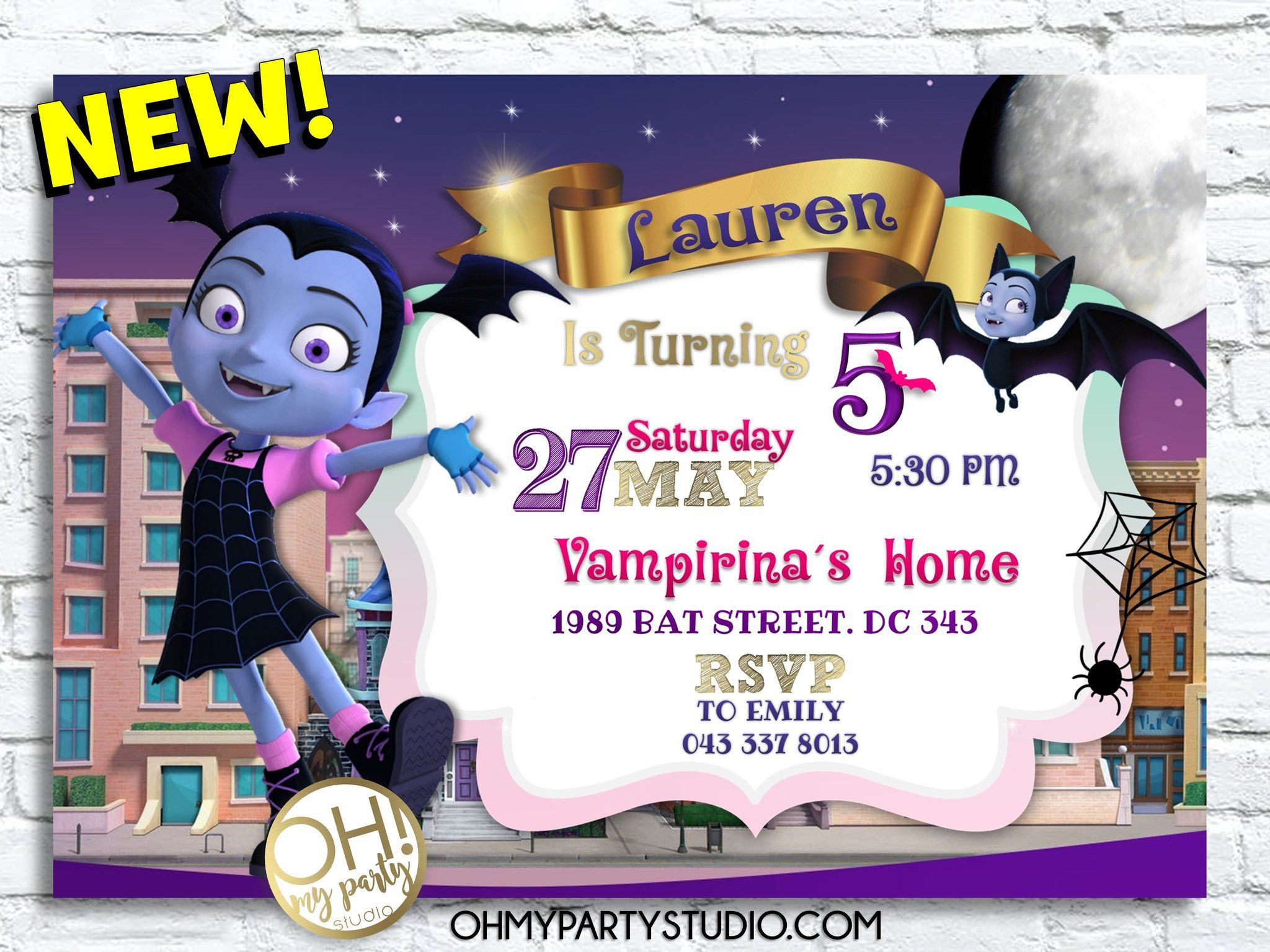 Vampirina Halloween Party 2020 Ny VAMPIRINA BIRTHDAY INVITATION in 2020 | Birthday invitations