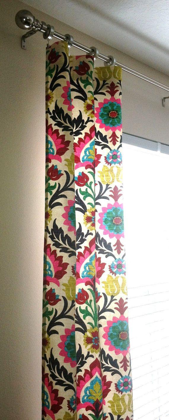 Waverly Santa Maria Desert Flower Curtains Rod Pocket 84 96 108