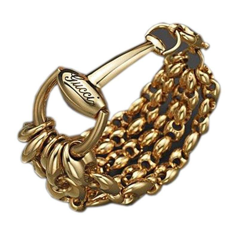 e8d8ff41a6a5 Gucci 18K Yellow Gold Marina Chainlink Bracelet en 2019