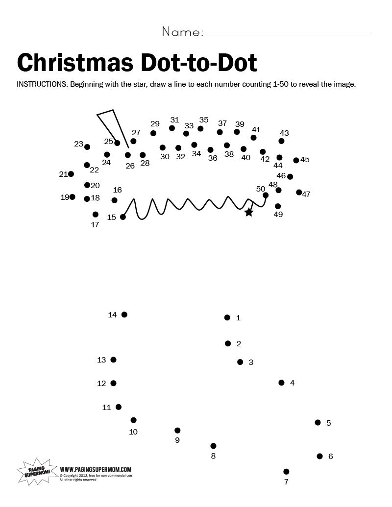 Christmas DottoDot Printable Worksheet – Free Christmas Worksheets