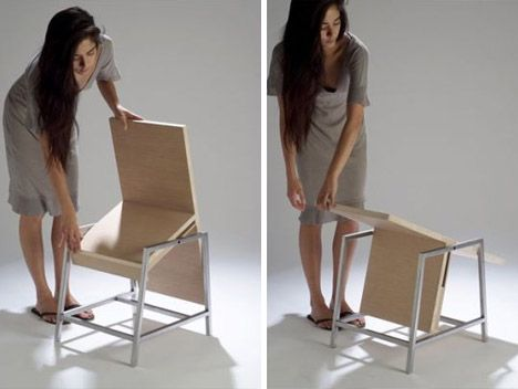 Flip Flop Table turns into a Chair by Aissa Logerot