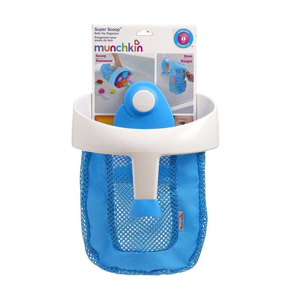 Munchkin Super Scoop Bath Toy Organizer | Bath toys, Baby bathing ...