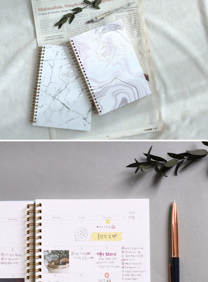 Weekly Planner White Marble Monthly Planner Weekly Etsy Monthly Planner Planner Weekly Planner