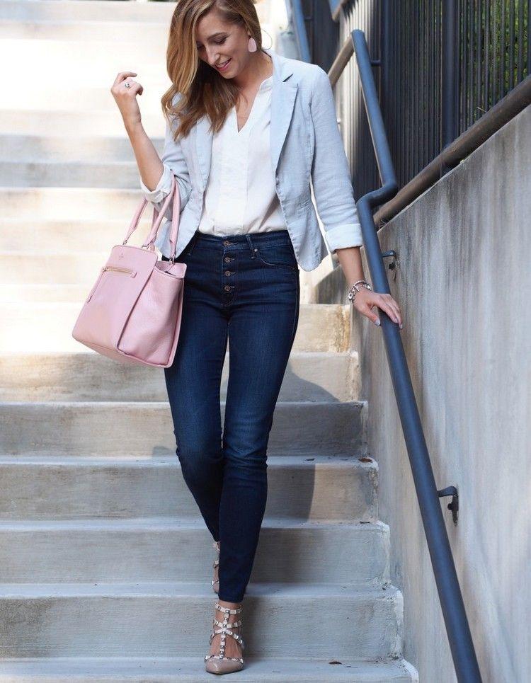 dresscode smart casual damen jeans blazer in 2019 | Smart