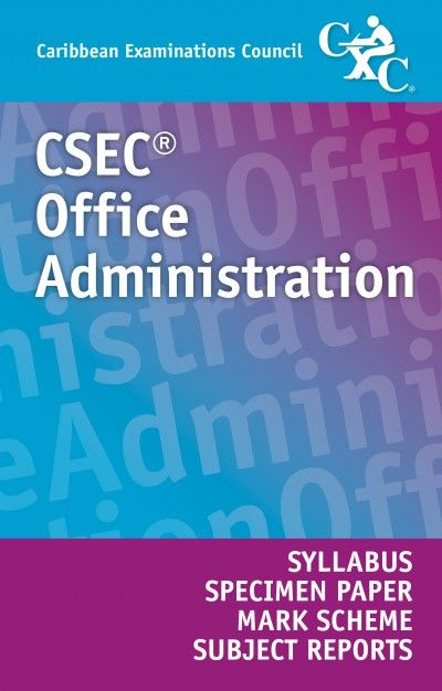 csec office administration syllabus specimen paper mark scheme