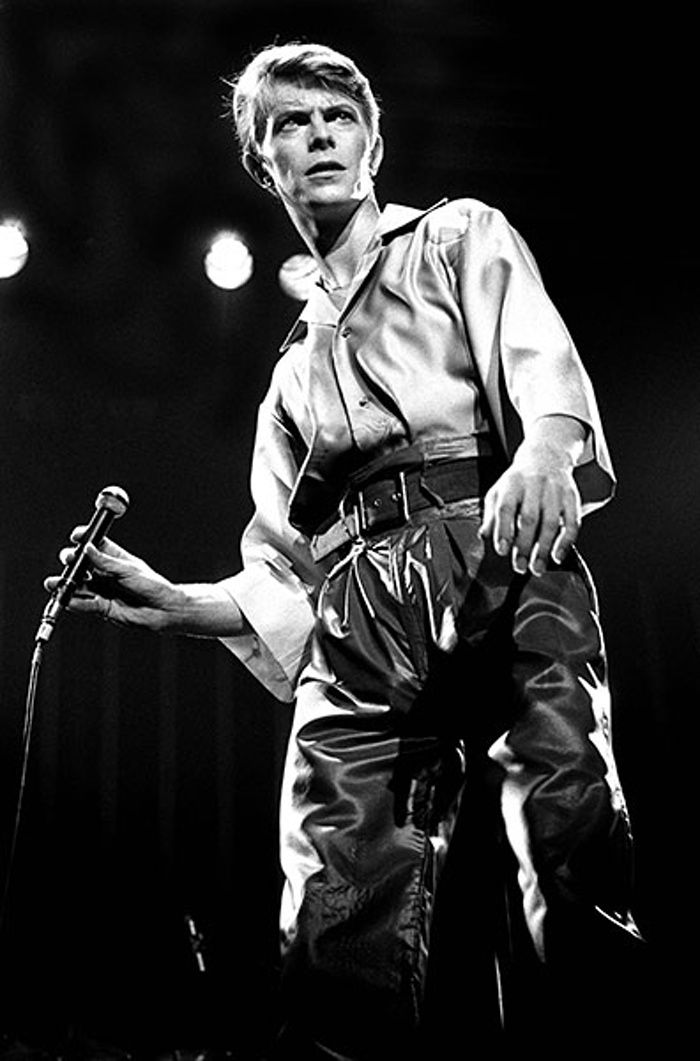 David Bowie life in pix: David Bowie performs in Newcastle in 1978