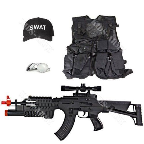 Kids Swat Set By Kids Army 64 99 1 Ak47 Lights And Sounds With