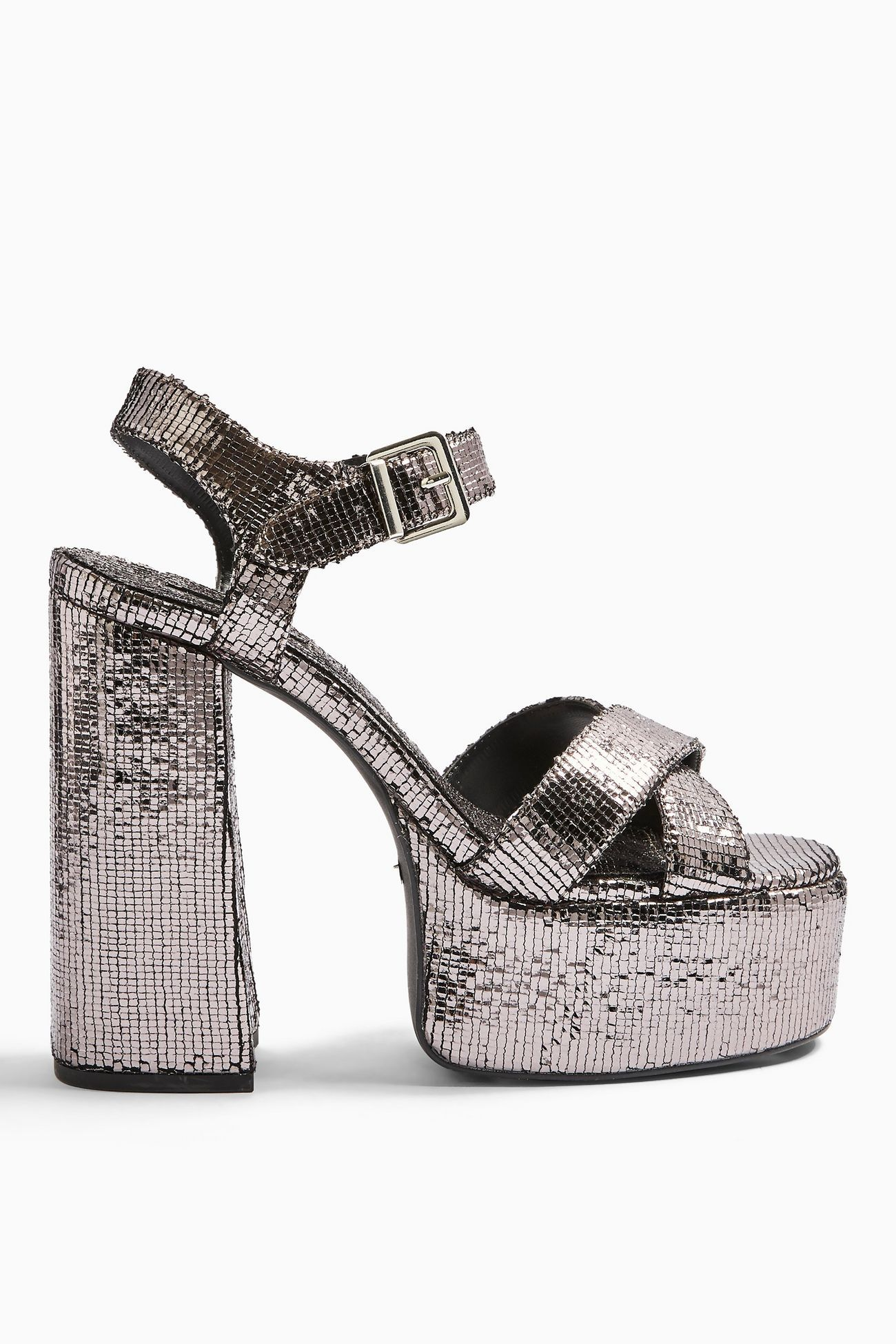 RUDY Pewter Platform Shoes in 2020
