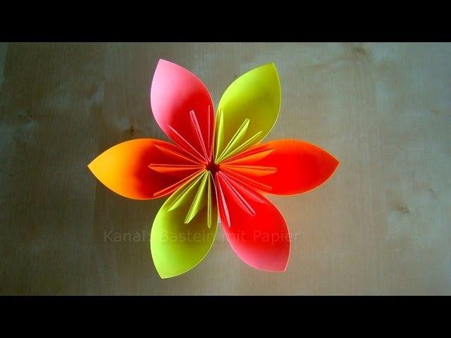 Origami Blumen Falten Diy Blumen Basteln Mit Papier Einfache