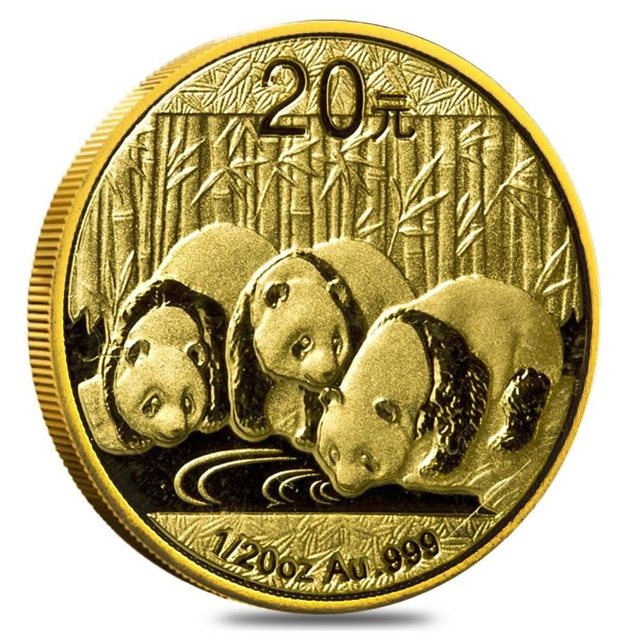 20 Oz Gold China Panda Yuan Coin