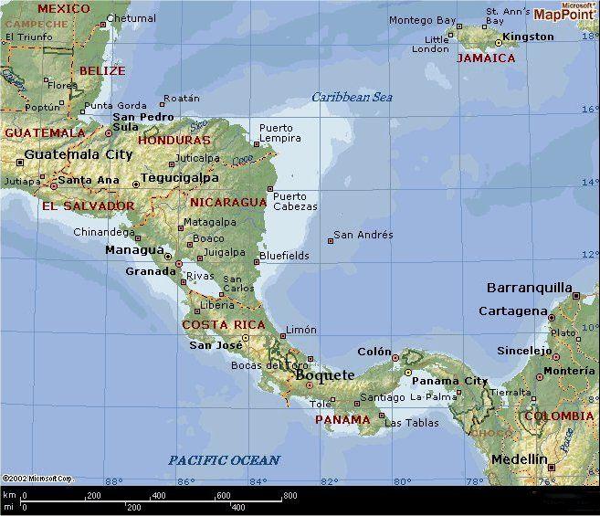 Boquete Panama Ecuador Pinterest: Central America Map Google Images At Codeve.org