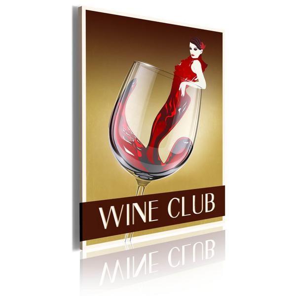 Quadro Wine Club Quadri vintage, Quadri su tela, Vintage