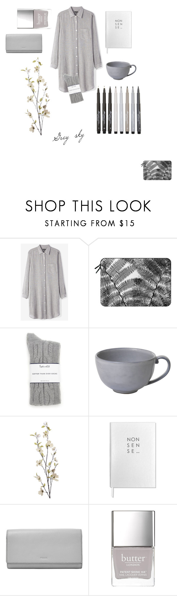 """Monochrome"" by sosofo ❤ liked on Polyvore featuring Steven Alan, Casetify, Faber-Castell, Splendid, Juliska, Pier 1 Imports, Sloane Stationery, FOSSIL, Butter London and comfy"