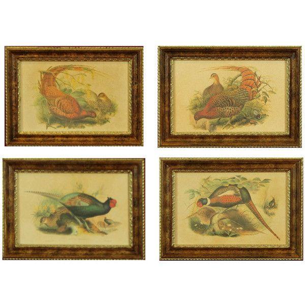 H. Hal Kramer Co. Game Bird Art, Set of 4 ($189) ❤ liked on ...
